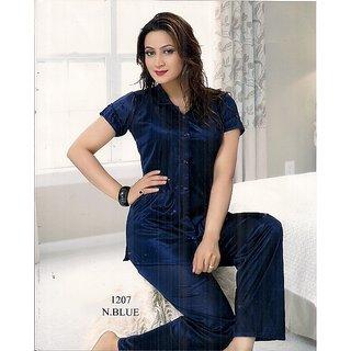 57fbe3d97e27 Hot Womens Sleep Wear T- Shirt   Pyjama Pant Navy Blue 1207 Sexy Pajama Fun