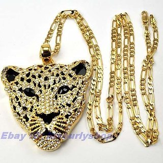 22CT PURE GOLD PLATED CHAIN LION PENDANT AT SPECIAL DIWALI DISCOUNT OFFER