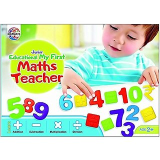 Ratna's Toyztrend Educational My First Maths Teacher Junior To Learn Addition, Subtraction, Multiplication, Division For Kids Ages 2+