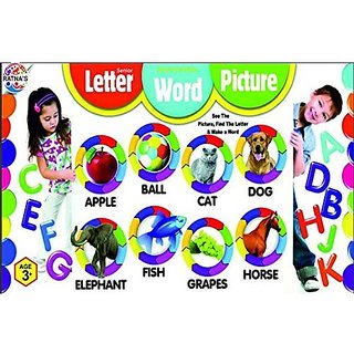 Ratna's Toyztrend Educational Letter Word Picture Senior, Alphabets & Numbers For Kids To See The Picture, Find The Letter & Make The Word