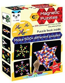 Playmate Play Panda Magnetic Puzzles : Triangles (500 Colorful Magnets) (Medium)