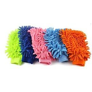 Kudos Set Of 5 Car Cleaning Glove Cloth Micro Fibre Hand Wash for car bike glass cleaning
