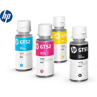 HP GT51 GT52 4 Color Set Genuine Official Original Ink Bottle For GT 5820 5810 Multi Color Ink  (Black, Magenta, Yellow,