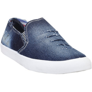 Zappy Men's Blue Slip On Casual Shoes