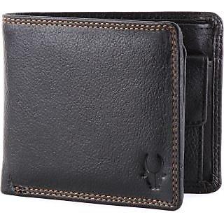 WildHorn WHGW18 Wallet (Black) (Synthetic leather/Rexine)