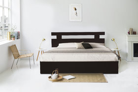 Auspicious Home Merrit King Size Bed with Storage in Matte Finish