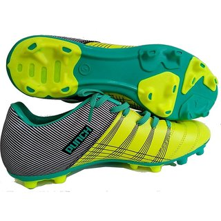 Yellow Punch Stud Football Shoes