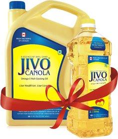 Jivo Canola Refined Edible Oil 5+2 Liter