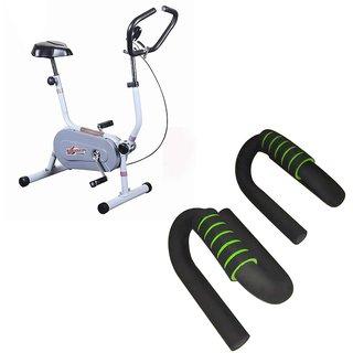 Deemark Exercise Bike Bgc 204 With Pushup bar Combo Pack