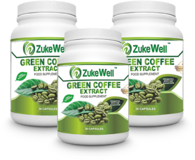 Zukewell Green Coffee Beans Extract (50 CGA) for Weight Management-30 Pure Veg Capsules Pack of 3