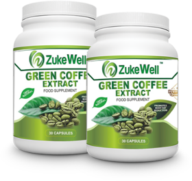 Zukewell Green Coffee Beans Extract (50 CGA) for Weight Management-30 Pure Veg Capsules Pack of 2
