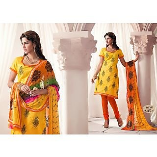 Cotton Salwar Material with Rich Work