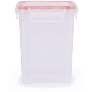 Incrizma Plastic Hi Lock Rectangular Container - 1200 ml - Set of 2