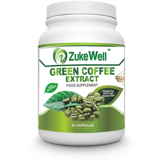 Zukewell Green Coffee Beans Extract (50 CGA) for Weight Management-30 Pure Veg Capsules Pack of 1