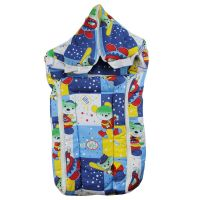 Baby Bed Carrier Cum Wrap With Double Chain - Blue