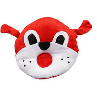 Neck Support Baby Pillow In Red And White Color - 5099836