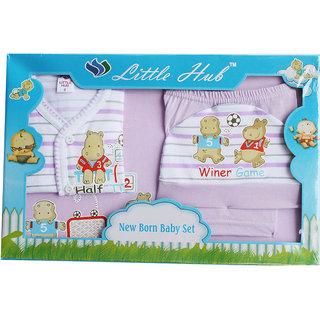 Little Hub Born Baby Gift Set - Light Purple