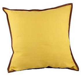 Kalakriti Stylish Yellow Cushion (Satndard Size)