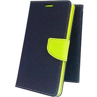BRAND FUSON Stylish Luxury Mercury Magnetic Lock Diary Wallet Style Flip Cover Case For Vivo Y55 / Y55L - Blue