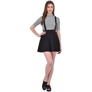 Buy Rigo Black Suspender Skater Skirt For Women Online   ₹1099 from ... 725732047