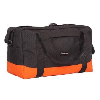 Duffle Bag - Travel Bag - Orange & Black Color Bags - By Bags R Us