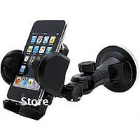 Universal Car Mount Mobile Phone Holder In Black From
