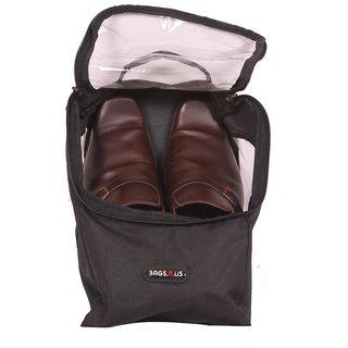 Shoe Bag - Travel Shoe Bags - Case / Pouch - Black Color - By Bags R Us