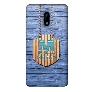 premium selection 36e5c 12ccf YuBingo Nokia 6 Designer Phone Back Case Cover ( Name Surname Mayur (Wood  Finish Printed On Plastic) )