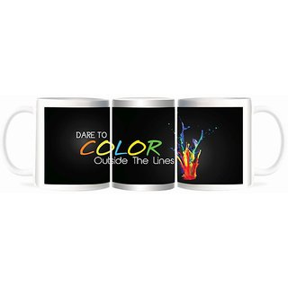 Refeel Gifts Lovely Dare To Color Outside The Line Mugs