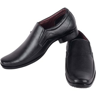 Austrich Men's Black Formal Slip-on Shoes