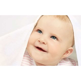 MYIMAGE Adorable Cute Baby Canvas Cloth Poster (Canvas Cloth Print, 31cm x 46 cm)