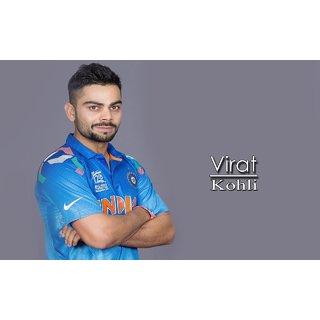 MYIMAGE Cool Virat Kohli Cricket player Canvas Cloth Poster (Canvas Cloth Print, 12x18 inch)