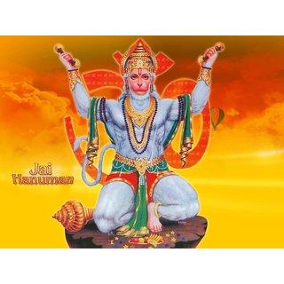 MYIMAGE Lord Balaji Hanuman Beautiful Canvas Cloth Poster (Canvas Cloth Print, 12x18 inch)