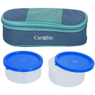 Carrolite Royal BlueGreen Lunchbox2 Plastic Container