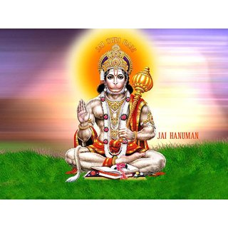MYIMAGE Lord Balaji Hanuman Beautiful Canvas Cloth Poster (Canvas Cloth Print, 12x18 inch)