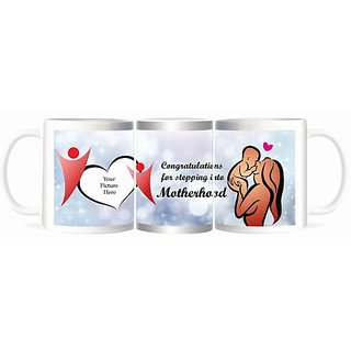 Refeel Gifts Congratulations For Stepping Into Motherhood - Personalized Mugs