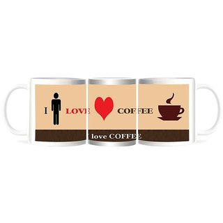 Refeel Gifts I Love Coffee Mugs