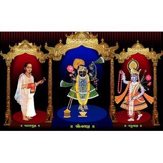 MYIMAGE Lord Shree Jagannath Beautiful Canvas Cloth Poster (Canvas Cloth Print, 12x18 inch)