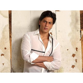 MYIMAGE Handsome Shahrukh Khan Digital Printing Canvas Cloth Poster (Canvas Cloth Print, 12x18 inch)