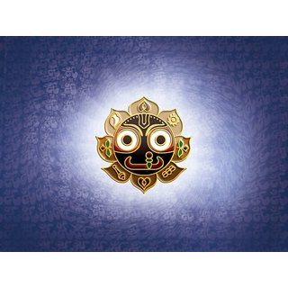 MYIMAGE Lord Shree Jagannath Beautiful Canvas Cloth Poster (Canvas Cloth Print, 12x18 inch)