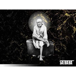 MYIMAGE Lord Shirdi Sai Baba Beautiful Canvas Cloth Poster (Canvas Cloth Print, 12x18 inch)