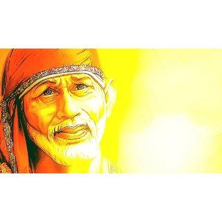 MYIMAGE Lord Shirdi Sai Baba Beautiful Canvas Cloth Poster (Canvas Cloth Print, 12x18 inch)