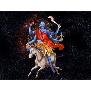 MYIMAGE Maa Durga Beautiful Canvas Cloth Poster (Canvas Cloth Print, 12x18 inch)