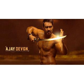 MYIMAGE Ajay Devgan Digital Printing Canvas Cloth Poster (Canvas Cloth Print, 12x18 inch)