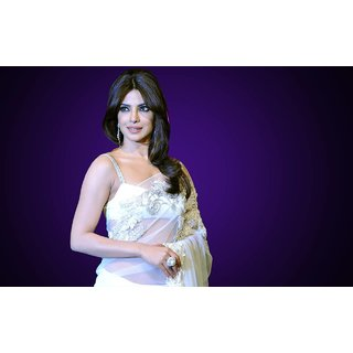 MYIMAGE Beautiful Priyanka Chopra Digital Printing Canvas Cloth Poster (Canvas Cloth Print, 12x18 inch)
