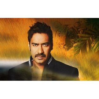 MYIMAGE Ajay Devgan Digital Printing Canvas Cloth Poster (Canvas Cloth Print, 12x18 inch)
