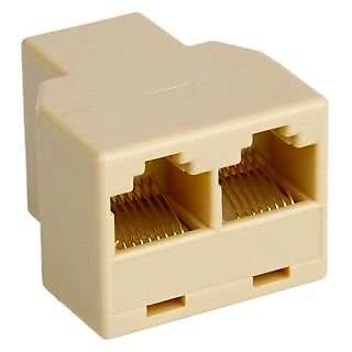 RJ45 CAT 5 LAN Ethernet Splitter Connector