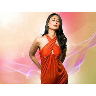 MYIMAGE Kareena Kapoor Digital Printing Canvas Cloth Poster (Canvas Cloth Print, 12x18 inch)