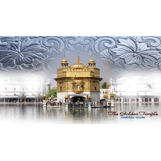 MYIMAGEGolden Temple Beautiful Canvas Cloth Poster (Canvas Cloth Print, 12x18 inch)