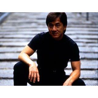 MYIMAGE Hollywood Star Jackie Chan Digital Printing Canvas Cloth Poster (Canvas Cloth Print, 12x18 inch)